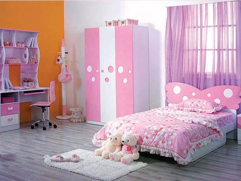 Cute pink bedroom design for girls 4 home ideas for Cute pink bedroom ideas