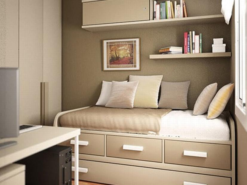 Decorative Gray Small Bedroom Design Idea