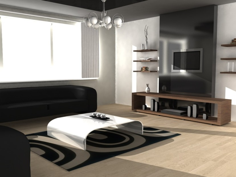 Elegant Black And White Decor Furniture
