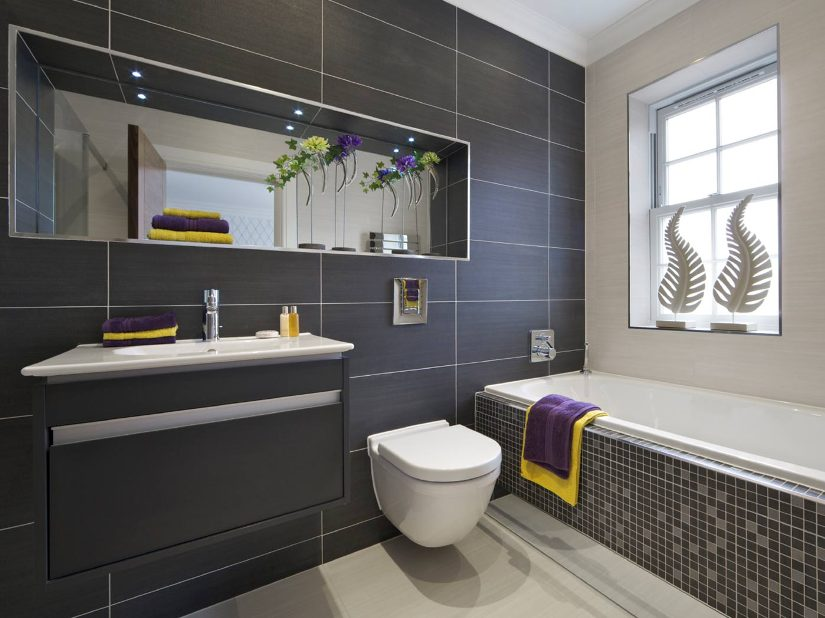 Elegant Black And White Modern Bathroom