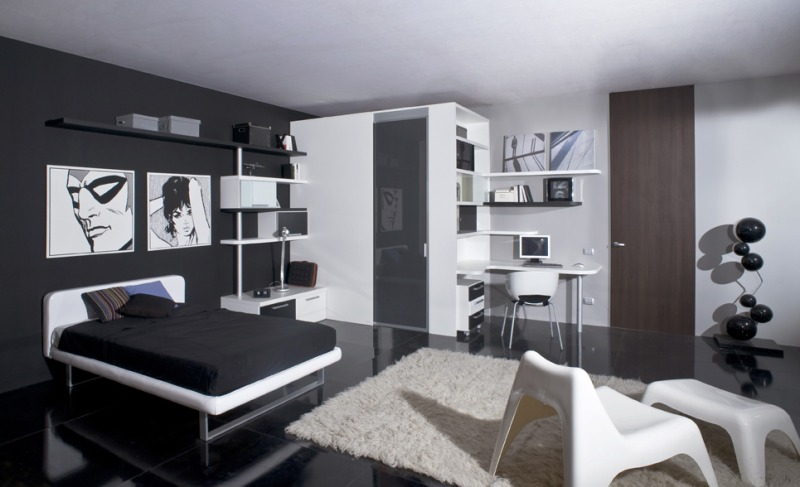 Elegant Black And White Teen Bedroom - 4 Home Ideas