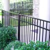 Elegant Black Iron Fence Color Design