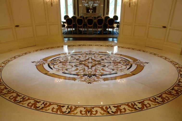 Elegant Floor Design For Rounded Room