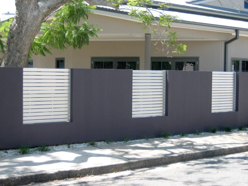 Elegant Gray And White Home Fence