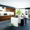 Elegant Green Color Idea In Minimalist Kitchen