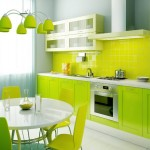 Elegant Green Kitchen Paint Color Idea