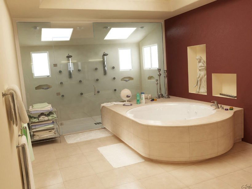 Elegant Home Bathroom Design Idea Photo