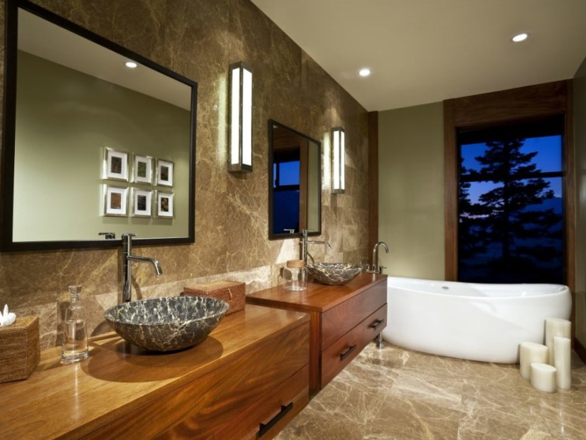 Elegant Modern Home Bathroom Decor Idea
