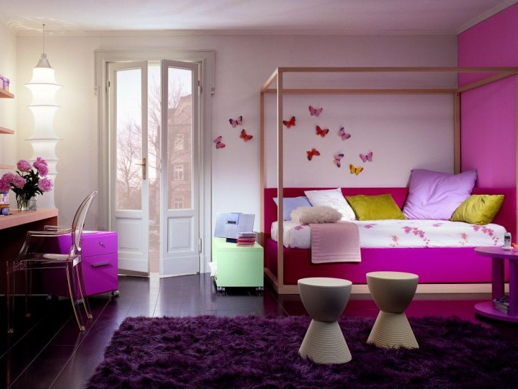 Elegant Purple Bedroom Color For Children