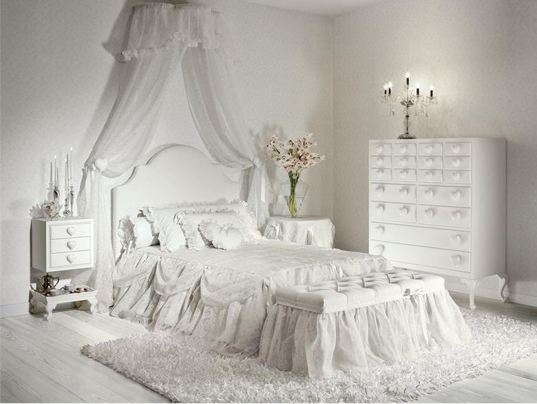 Elegant White Bedroom Color For Girls
