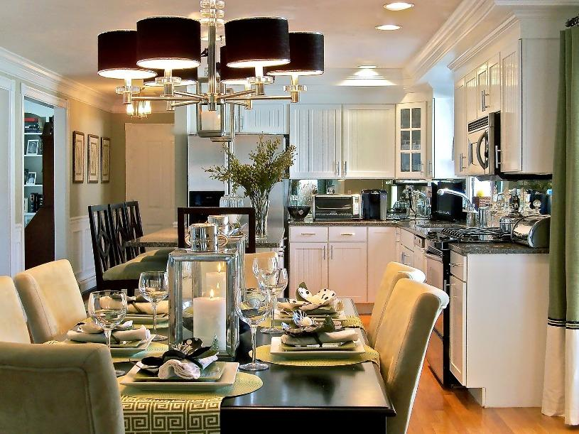 Formal Kitchen And Dining Room Picture