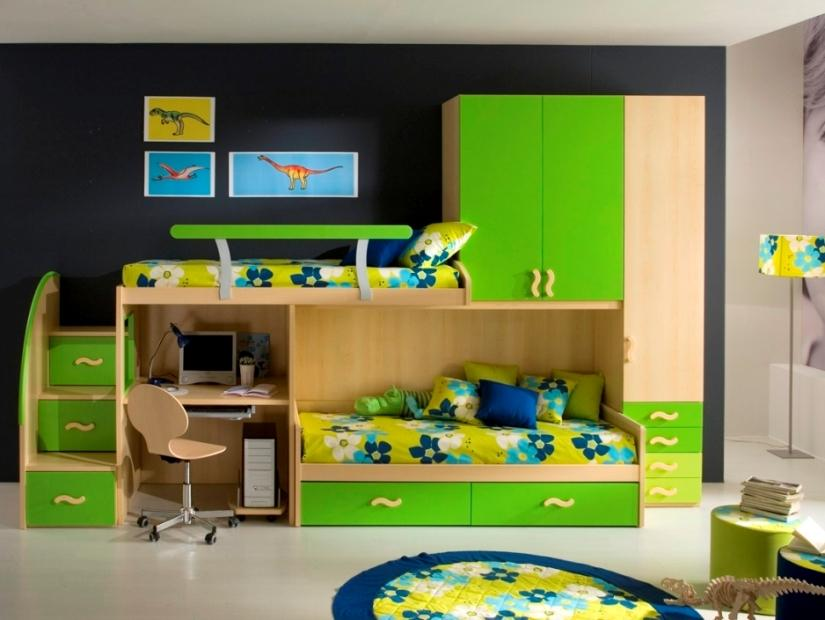 Fresh Color Design Idea For Boy Bedroom