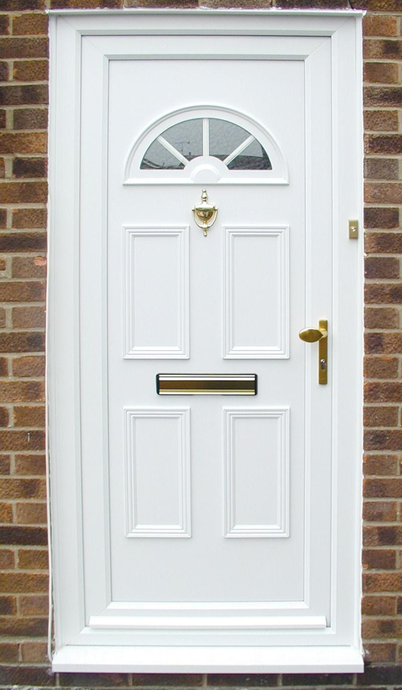 Front Home Door With White Color