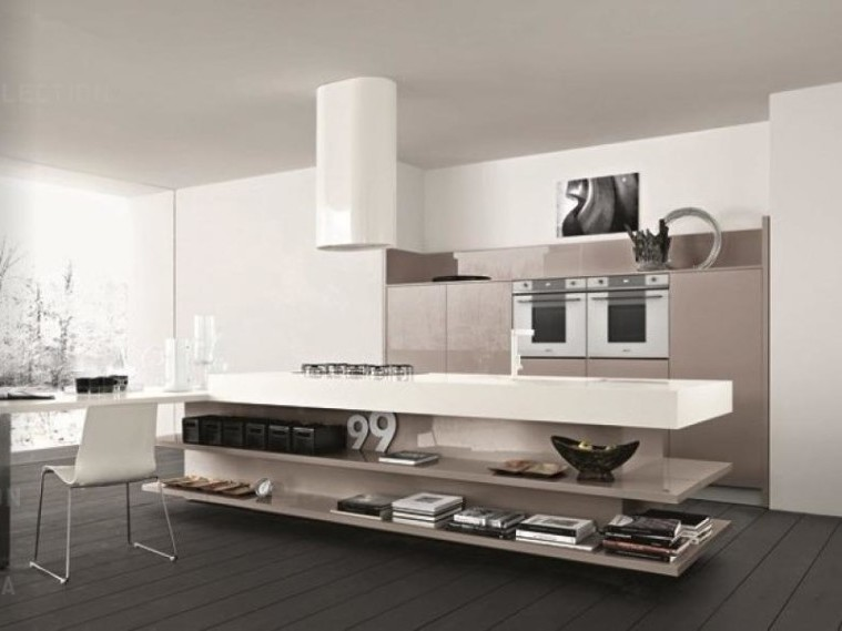 Gray Color For Multifunction Kitchen Design