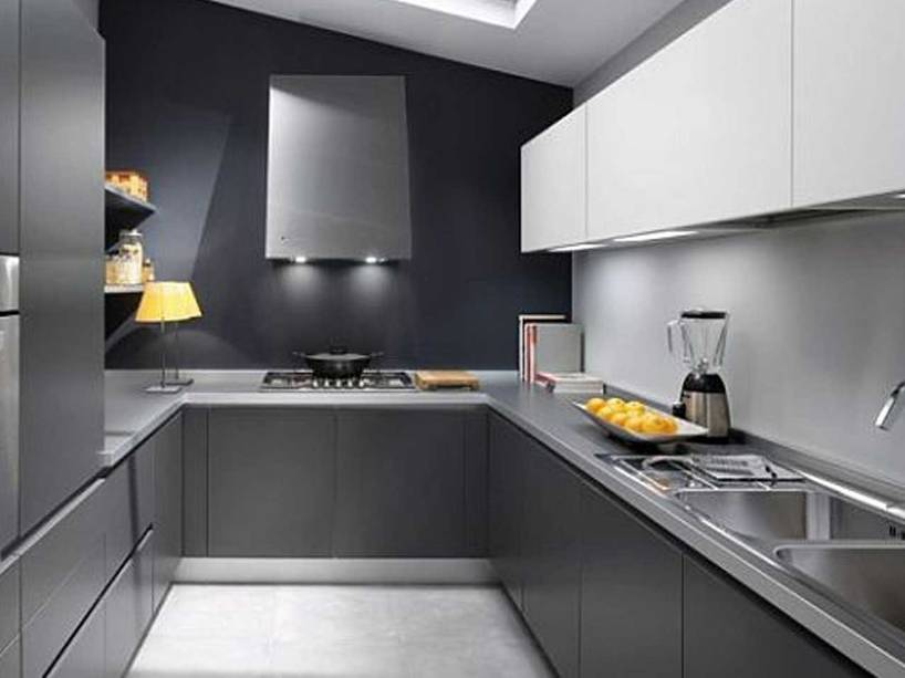 Gray Color Idea For Minimalist Kitchen
