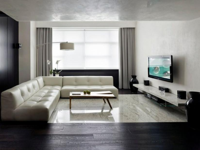 Great Black And White Living Room
