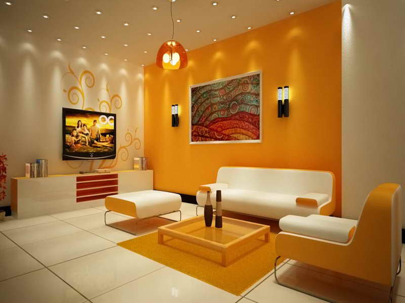 Orange Home Wall Paint Color Idea - 4 Home Ideas