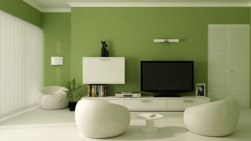 Green And White Paint Color Combination