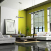 Green Paint Design For Living Room