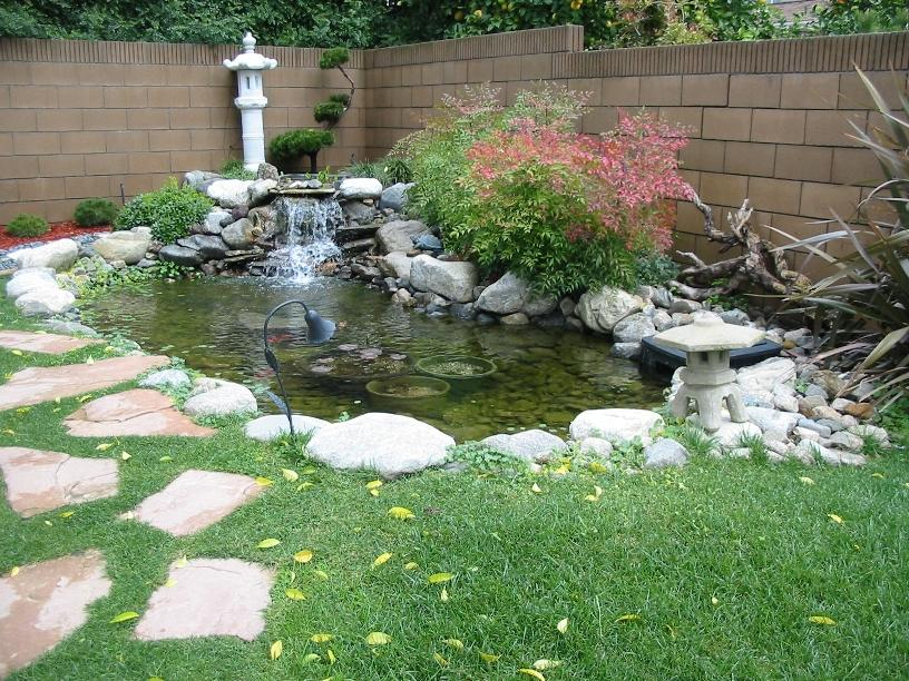 Home Garden Fish Pond Idea Image