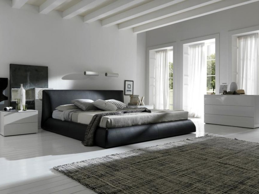 Luxury Black And White Men Bedroom
