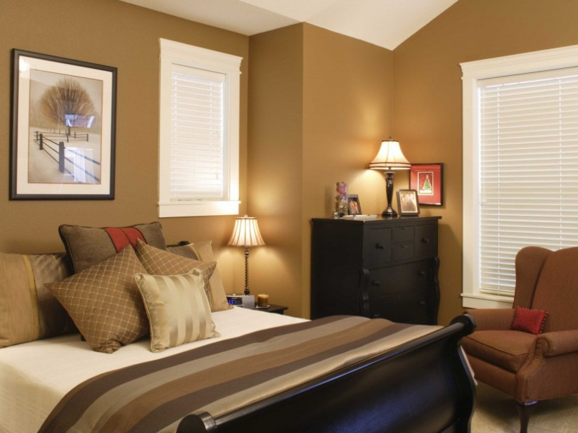 Luxury Brown Paint Color For Modern Bedroom