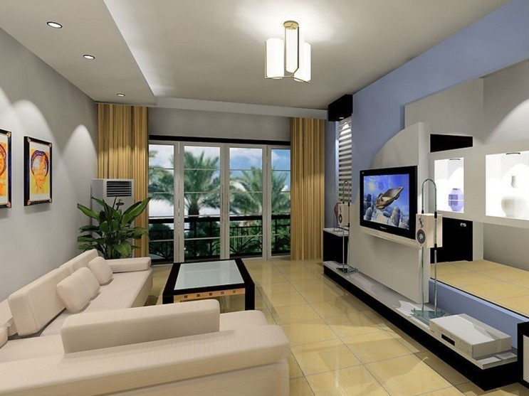 Luxury Living Room Design With Audio Visual