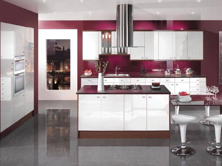 Luxury White Color For Kitchen Storage Image