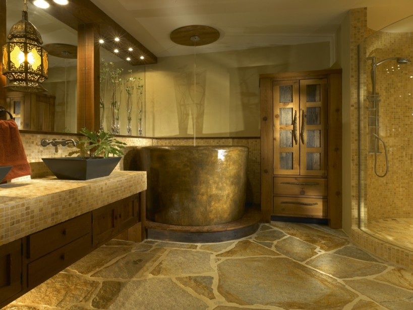 Minimalist Bathroom Decoration With Natural Stone