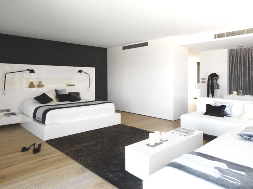 Minimalist Bedroom Design With Monochrome Color