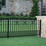 Minimalist Black Iron Fence For House