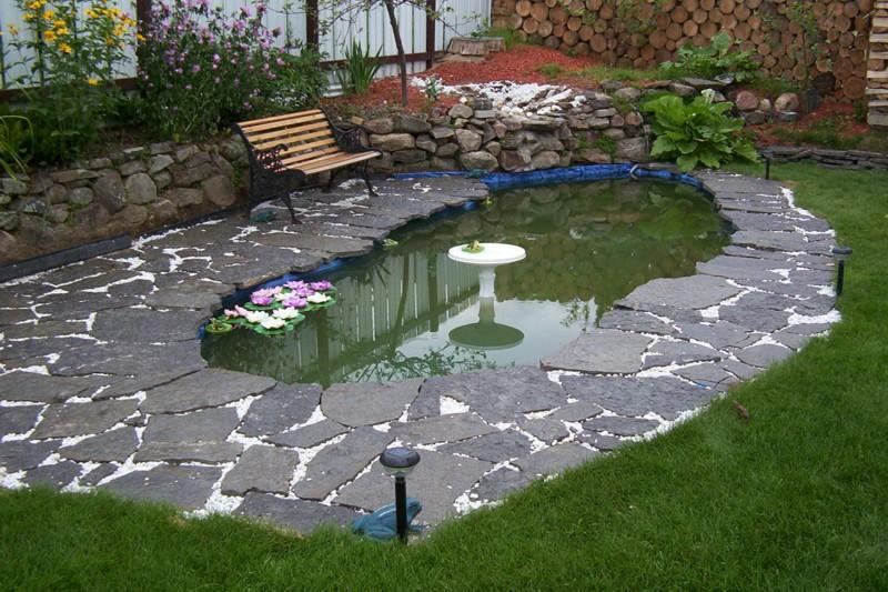 Home garden fish pond idea image 4 home ideas for Small pond house plans
