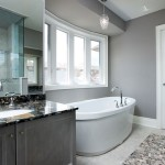 Minimalist Gray Home Bathroom Design Idea