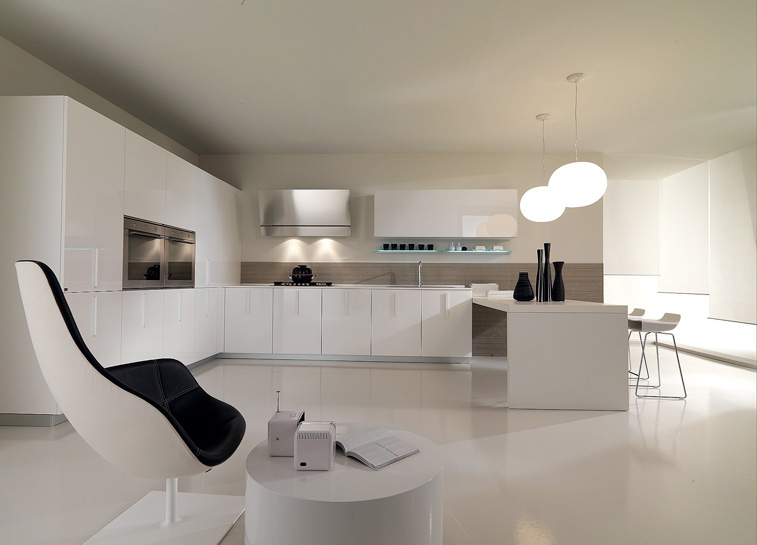 Minimalist Home Kitchen With White Color