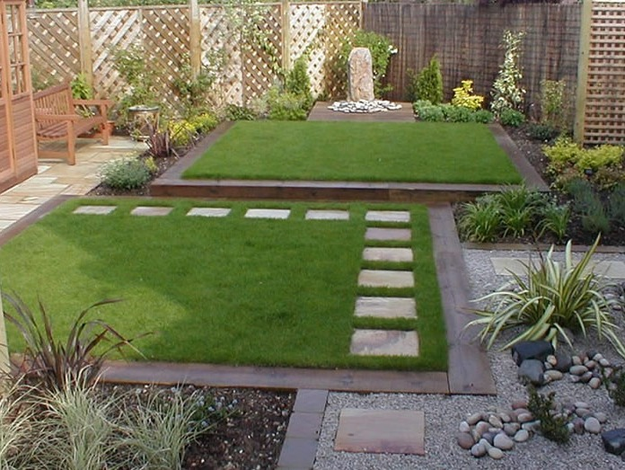 Minimalist small home garden design idea 4 home ideas for Home designs with garden