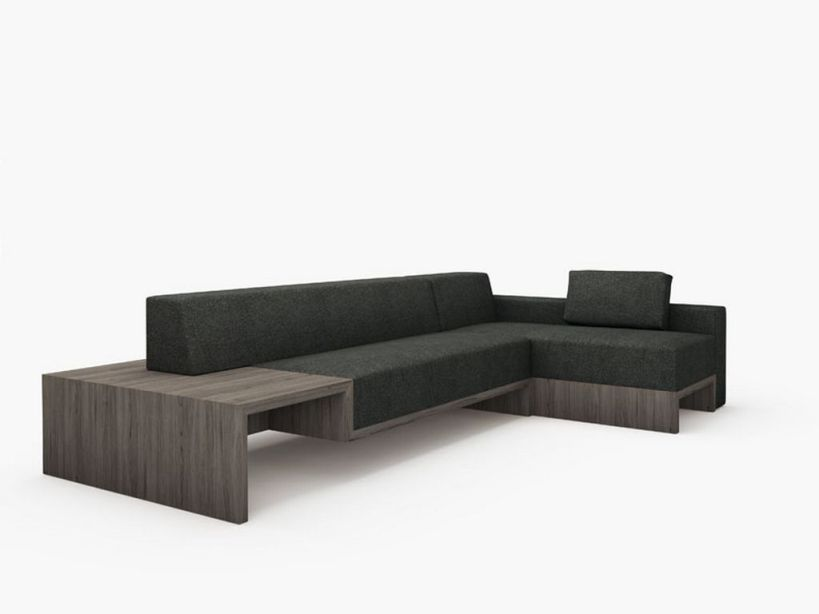 Minimalist sofa design with black color 4 home ideas for Modern minimalist furniture