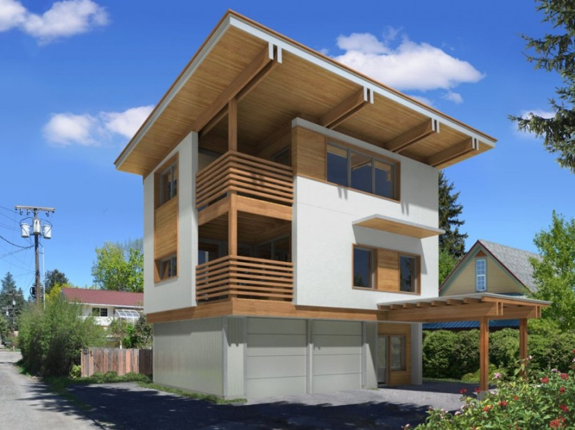 Latest minimalist roof design 2014 4 home ideas for Minimalist house roof