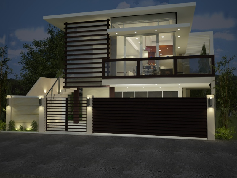 Modern minimalist house fence design in 2014 4 home ideas for Minimalist house 2014