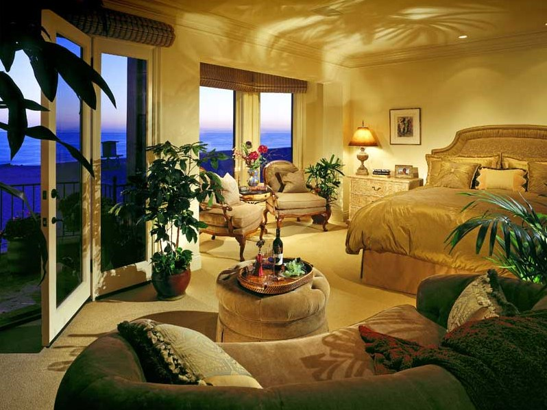Modern Bedroom Interior With Nature Decor