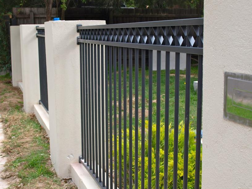 Modern Black And White Fence Color