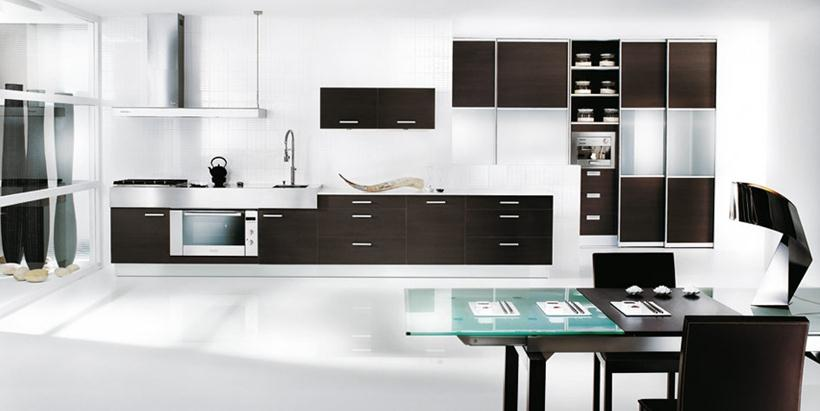 Modern Black And White Kitchen Colors