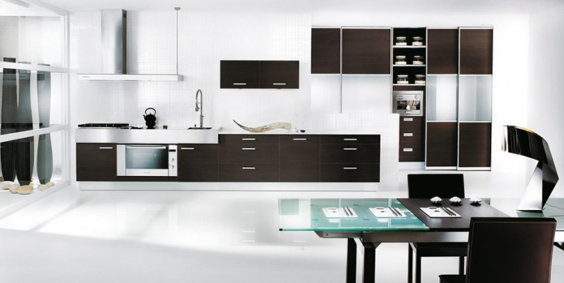 Modern Black And White Kitchen Design