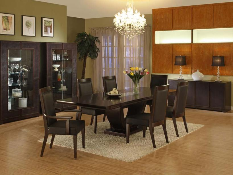 Modern Black Dining Room Table Image