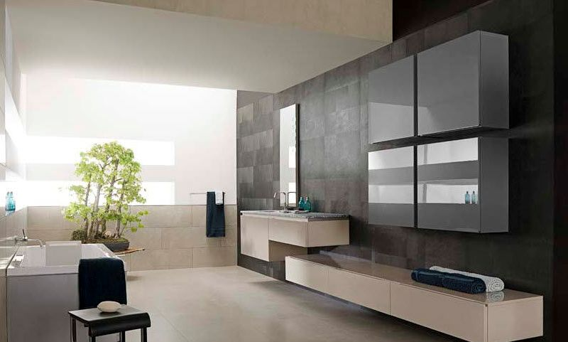 Modern Contemporary Home Bathroom Design Idea
