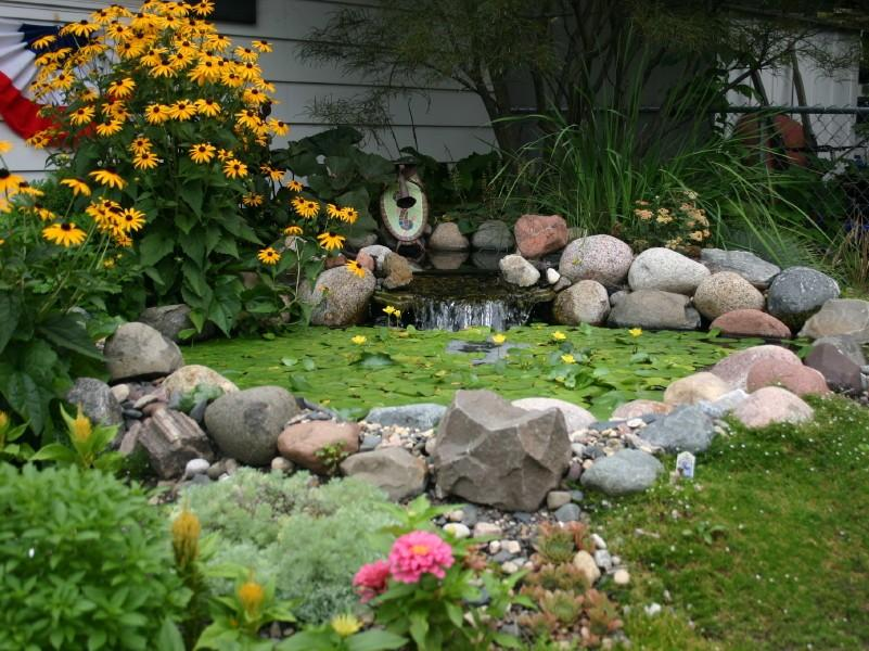 Modern Home Garden Design With Pond