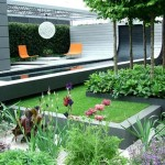 Modern House Garden With Beautiful View