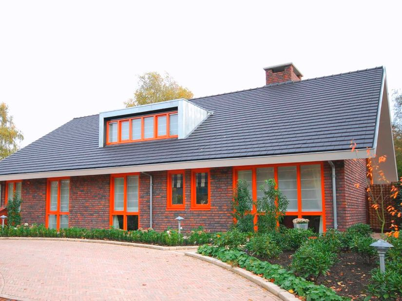Modern House Roof With Gable Model
