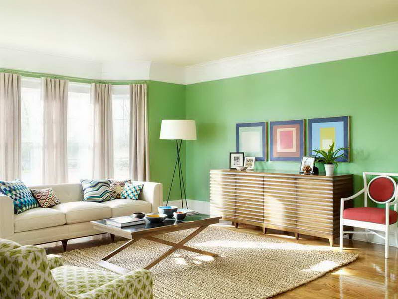 Modern Living Room Paint Color Combination - 4 Home Ideas