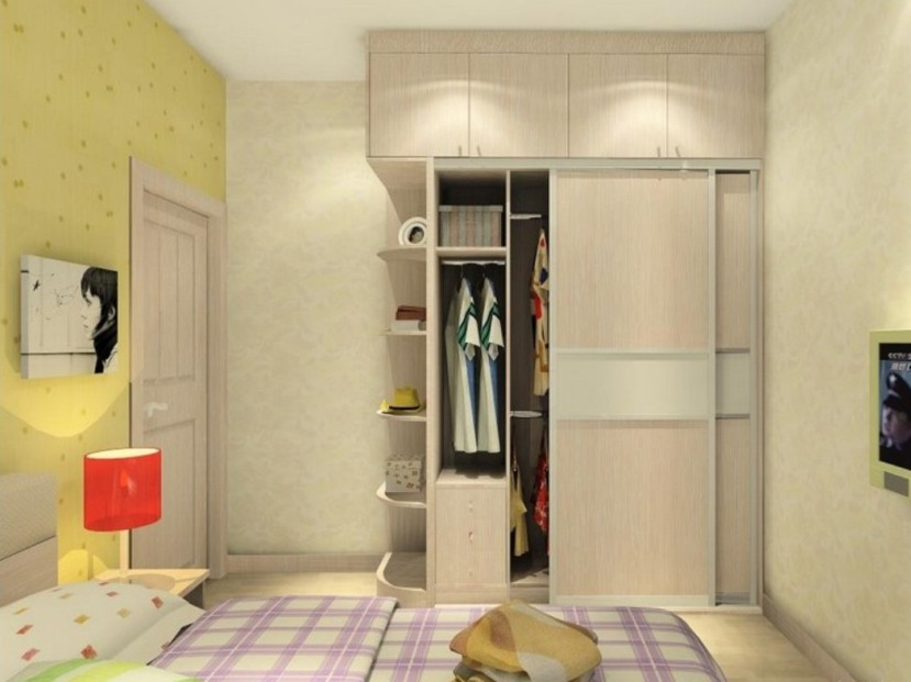 Modern Minimalist Bedroom Wardrobe Design Photo