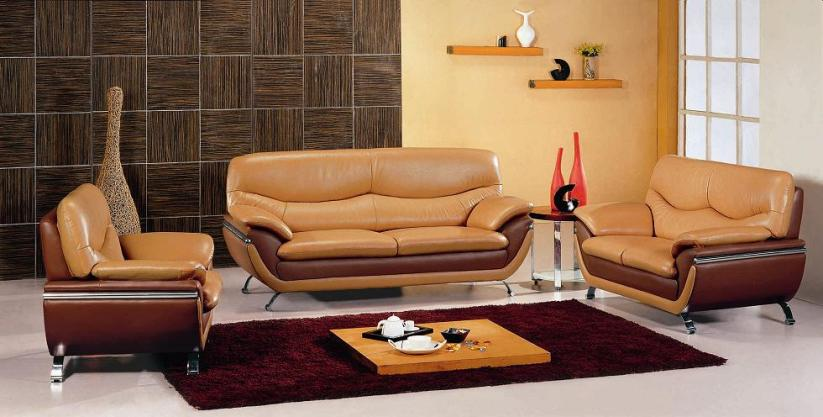 Modern Minimalist Brown Living Room Design